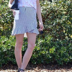 High low mini skirt